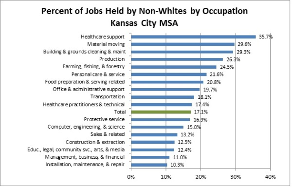 Occupation by Minority chart