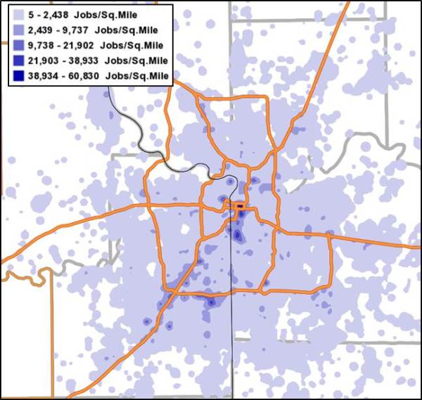 KC Employment Density For Downtown Post